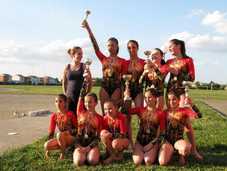 gymnastique,équipe, filles gym, aseat, toulouse, cours, enfant, championnat, concours, performance